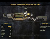 Anti-armor Tuned Automatic Ultracite Laser Rifle - Level 50