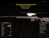 Quad Hardened Piercing Sniper Rifle - Level 50