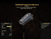 Unyielding[Weapons -20%Weights] BOS Combat Armor Right Arm