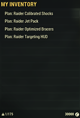 Raider Mods Plan Set
