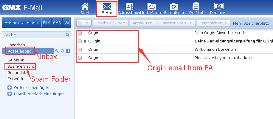 gmx mail android probleme