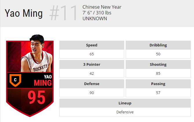 NBA LIVE MOBILE Interesting Data Part2-YAO MING 1