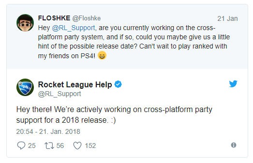Rocket League Crossplay Groups In 2018 According To The Developer