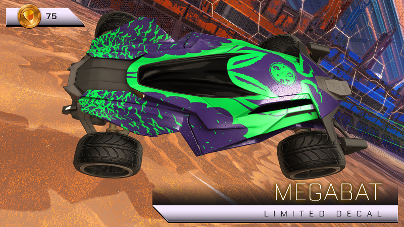 Rocket League Haunted Hallows Items - Limited Decal - Megabat