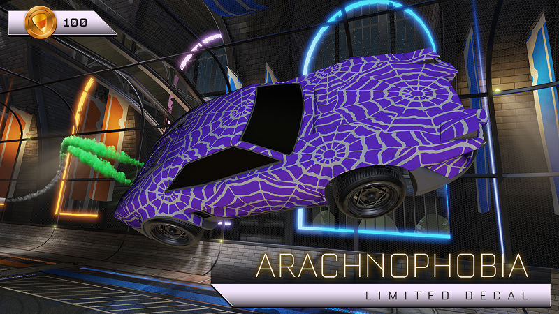 Rocket League Haunted Hallows Items - Limited Decal - Arachnophobia