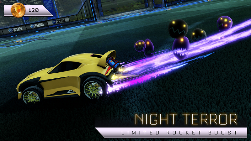 Rocket League Haunted Hallows Items - Limited Rocket Boost - Night Terror