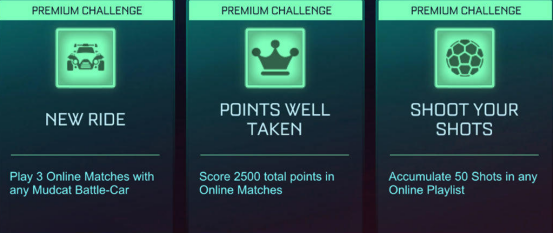 Rocket League Rocket Pass 4 Week 1 Premium Challenge